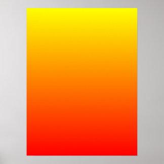 Sunny Gradient Poster