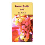 Sunny grapes wine bottle label