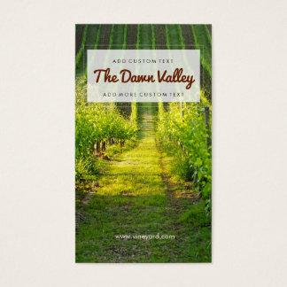 Sunny Green Vineyard Elegant Vineyard Winery Business Card