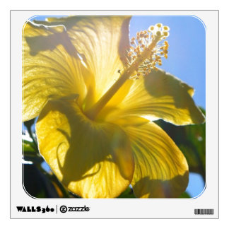 Sunny Hibiscus Wall Sticker