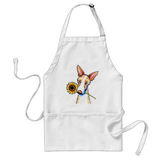 Sunny Ibizan Hound Wirehaired Off-Leash Art™ Adult Apron