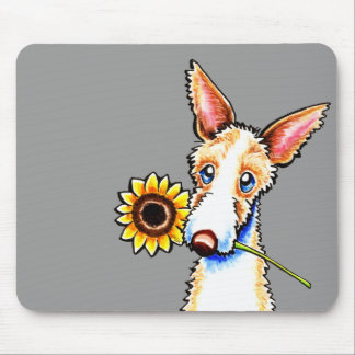 Sunny Ibizan Hound Wirehaired Off-Leash Art™ Mouse Pad