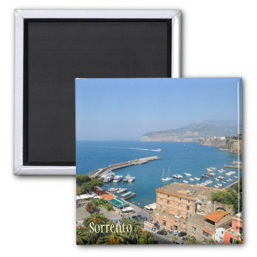 Sunny italian city Sorrento in summer quiet day 2 Inch Square Magnet