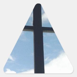 sunny jail window triangle sticker