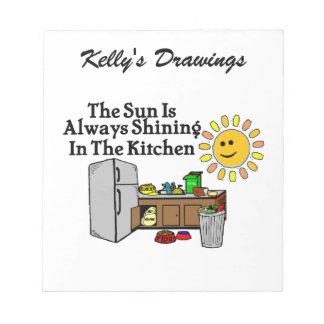 Sunny Kitchen Notepad