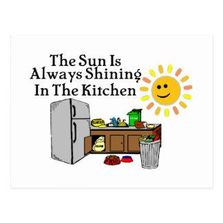 Sunny Kitchen Postcard