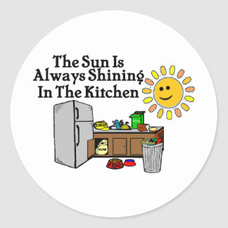 Sunny Kitchen Classic Round Sticker