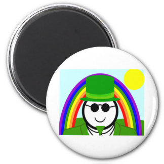 Sunny Leprechaun 3 2 Inch Round Magnet