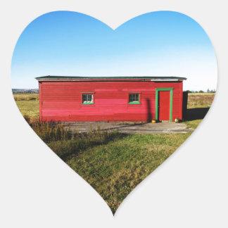 Sunny Little House Heart Sticker