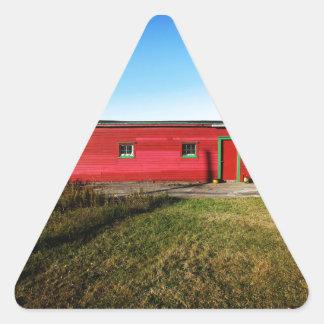 Sunny Little House Triangle Sticker