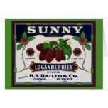 Sunny Loganberry Fruit Card