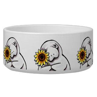 Sunny Manatee Off-Leash Art™ Bowl