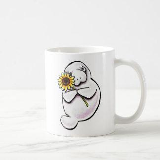 Sunny Manatee Off-Leash Art™ Classic White Coffee Mug