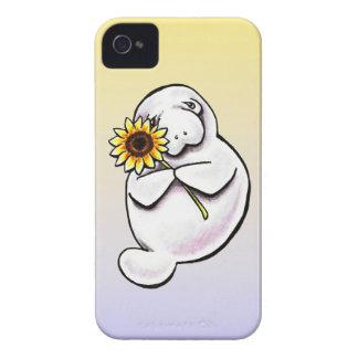 Sunny Manatee Off-Leash Art™ iPhone 4 Case