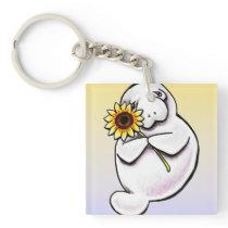 Sunny Manatee Off-Leash Art™ Keychain