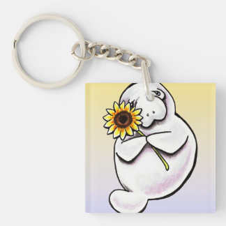 Sunny Manatee Off-Leash Art™ Keychain