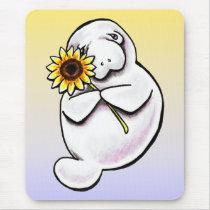 Sunny Manatee Off-Leash Art™ Mouse Pad