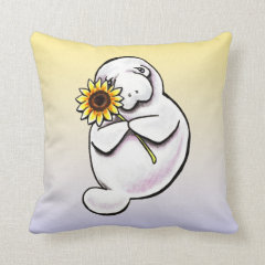 Sunny Manatee Off-Leash Art™ Pillow