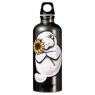Sunny Manatee Off-Leash Art™ Water Bottle