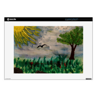 """Sunny Meadow Painting 15"""" Laptop Skins"""