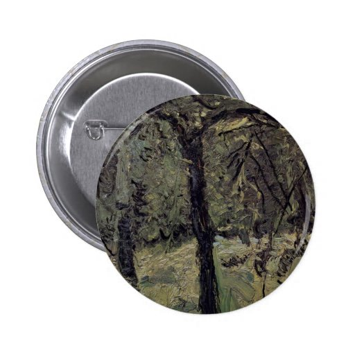 Sunny Meadow With Fruit Trees By Gerstl Richard Pinback Button