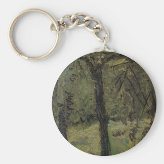 Sunny Meadow with fruit trees by Richard Gerstl Keychain