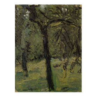Sunny Meadow with fruit trees by Richard Gerstl Postcard