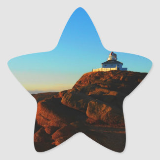 Sunny Morning At Cape Spear Star Sticker