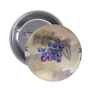 Sunny Morning Blueberries Kitchen Cooking Foods Pinback Button