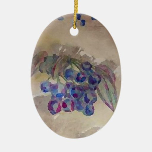 Sunny Morning Blueberries Kitchen Cooking Foods Christmas Ornaments