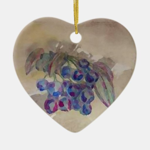 Sunny Morning Blueberries Kitchen Cooking Foods Christmas Tree Ornaments