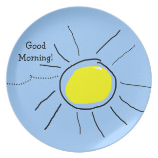 sunny morning plate