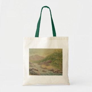 Sunny Mountain Landscape Tote Bag