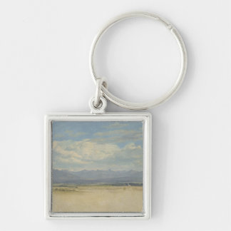 Sunny Mountainous Panorama, 1829 Keychain