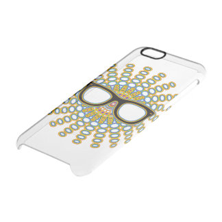 Sunny Nerd Glasses + your backgr. & ideas Clear iPhone 6/6S Case