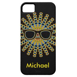 Sunny Nerd Glasses + your backgr. & ideas iPhone SE/5/5s Case