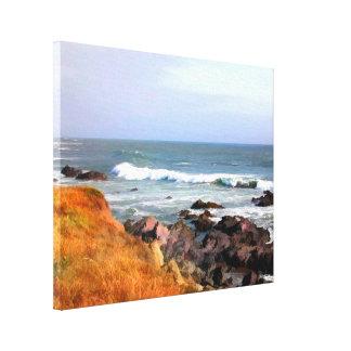 Sunny Ocean Shoreline Cambria California Canvas Print