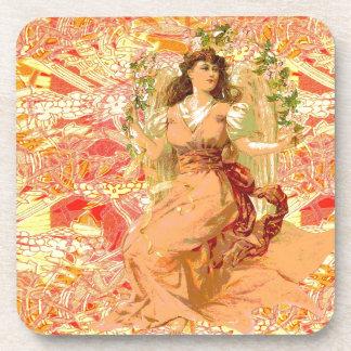 Sunny Orange Angel Drink Coaster