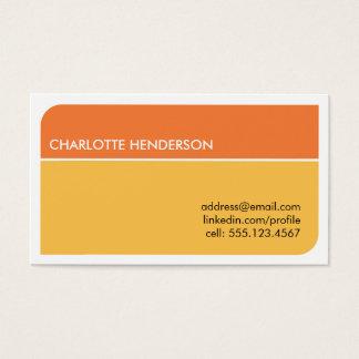 Sunny orange smart student employment resume card