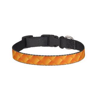 Sunny Orange  Tiled Dog Collars