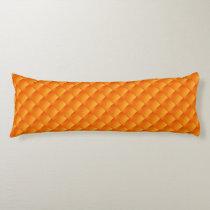 Sunny Orange Yellow  Pattern Body Pillow