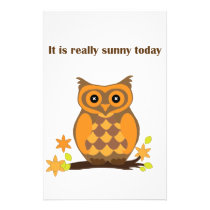Sunny Owl Stationery