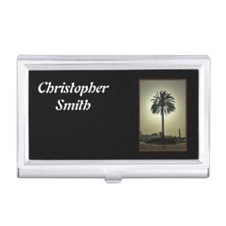 Sunny Palm Business Card Holder