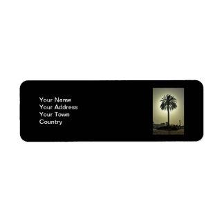 Sunny Palm Return Address Labels