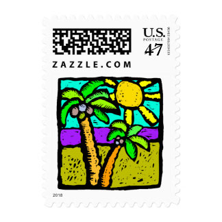 Sunny Palms Postage Stamps