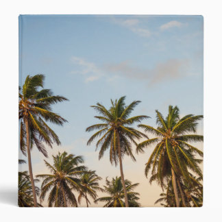 Sunny Paradise Sunset with Palms in Vintage Style 3 Ring Binder