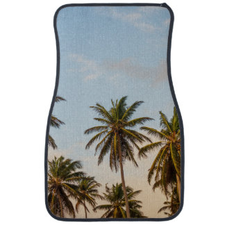 Sunny Paradise Sunset with Palms in Vintage Style Car Floor Mat