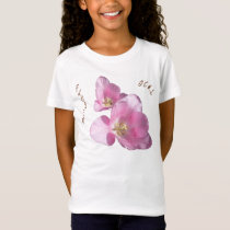 Sunny Pink Tulips Flower Girl Babydoll T-shirt