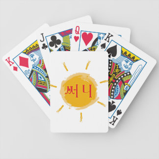 sunny bicycle card deck