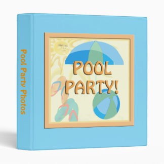Sunny Pool Party Binder
